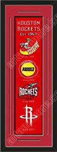 Heritage Banner Of Houston Rockets With Team Color Double Matting-Framed Awesome... by Art and More, Davenport, IA