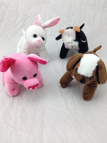 Lot Of 12 Assorted Plush Stuffed Farm Animals (Teddy Bear Lot compare prices)