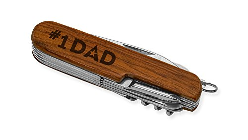 Dimension 9 #1 Dad 9-Function Multi-Purpose Tool Knife, Rosewood