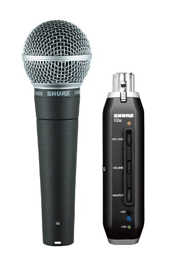 Shure Sm58-X2U Cardioid Dynamic Microphone With X2U Xlr-To-Usb Signal Adapter