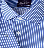 Sartorial Luxury Slim Fit Pure Cotton Striped Shirt