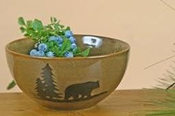DEI Woodland Bear Stoneware Bowl, 6-Inch