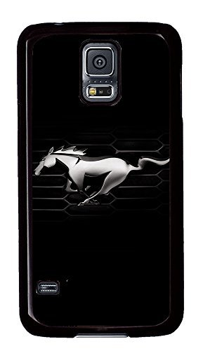 S5 Case, Galaxy S5 Case, Samsung Galaxy S5 Case - Ford Mustang Car Logo 4 Protective Case Hard PC Black Cover Heavy Duty Protection Shock-Absorption / Impact Resistant Slim Case for Galaxy S5 / Galaxy SV / Galaxy S V / Galaxy i9600 (Ford Galaxy S5 Phone Case compare prices)