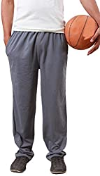 Colors & Blends -Medium Grey- Cotton blended Track Pants with Zipper Pockets- Size XXL