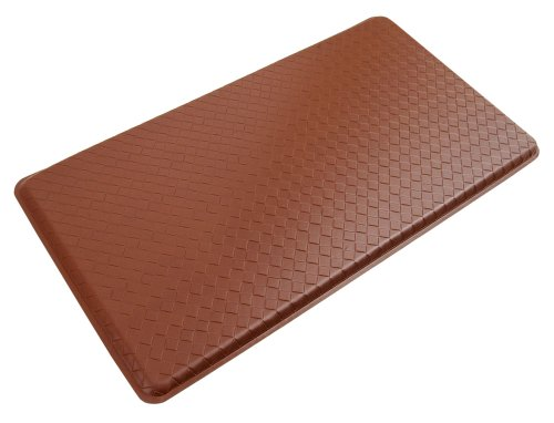 GelPro Plush 20 by 36-Inch Anti-Fatigue Kitchen Mat, Basketweave, Chestnut