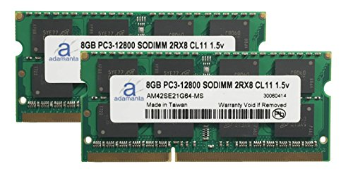 Click to buy Adamanta 16GB (2x8GB) Laptop Memory Upgrade for Toshiba Qosmio X870 DDR3 1600Mhz PC3-12800 SODIMM 2Rx8 CL11 1.5v Notebook DRAM - From only $151.98