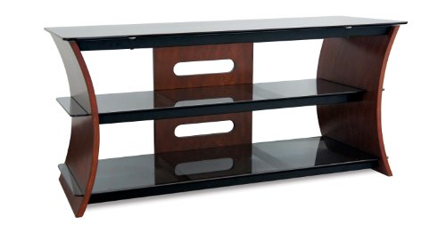 Cheap Bell'O CW345 Wood and Glass Stand for 32-52-Inch TV, Caramel Brown (CW345)