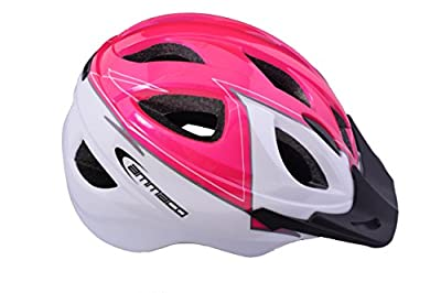 AMMACO GIRLS IN MOULD PROTECTIVE CHILDRENS SAFETY BIKE HELMET 46-53cm PINK/WHITE by Ammaco