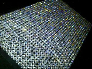 1500 Bulk Sheet of 5mm Self Adhesive AB Diamante Stick on Rh