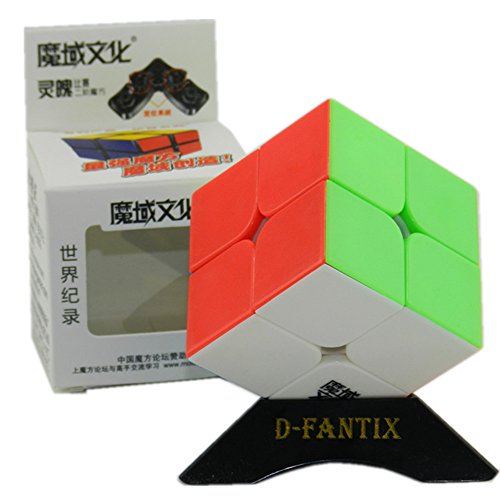 D-FantiX Moyu Lingpo 2x2 Speed Cube Stickerless Puzzle Smooth Magic Cube (50mm)