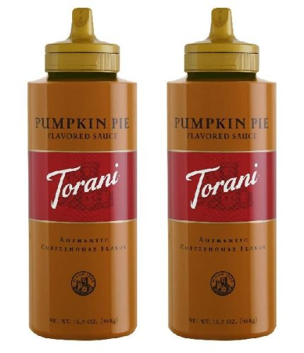 Torani Pumpkin Pie Flavored Coffee Syrup (2 Pack) 16.5 oz Size