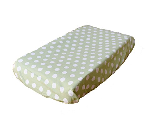 My Baby Sam Pixie Baby Contour Changing Pad Cover, Pink and Green - 1