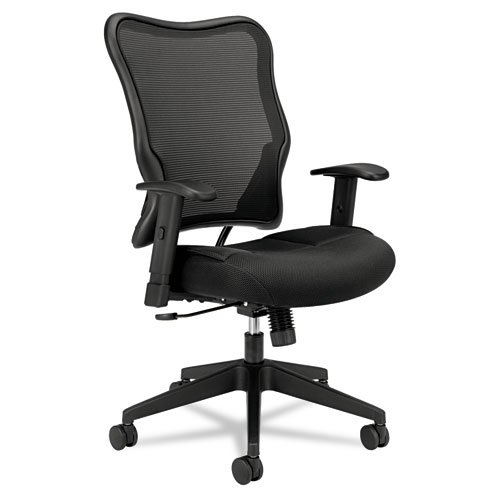 VL702 High-Back Swivel/Tilt Work Chair, Black Mesh high quality office chair leisure computer household lying thicken boss chair swivel lifting reclining chair