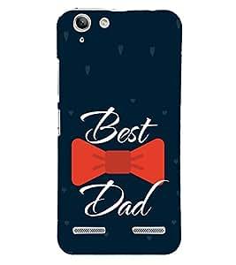 Best Dad Red Bow 3D Hard Polycarbonate Designer Back Case Cover for Lenovo Vibe K5 Plus :: Lenovo Vibe K5 Plus A6020a46 :: Lenovo Vibe K5 Plus Lemon 3
