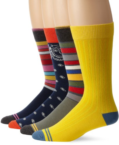 PACT Mens Fun-Crew Sock-4 Pack