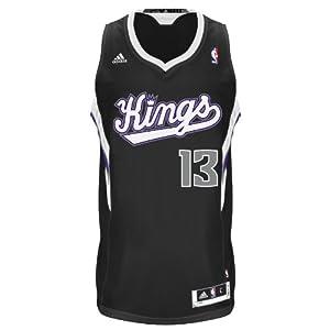 NBA Sacramento Kings Black Swingman Jersey Tyreke Evans #13 by adidas