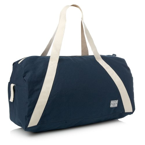 Red Herring Navy Canvas Barrel Holdall Bag