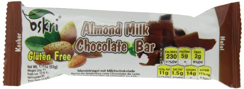 Oskri Almond Bar With Milk Chocolate, 1.9-Ounce (Pack Of 20)