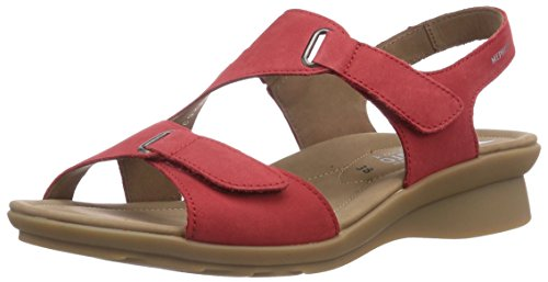 Mephisto - PARIS BUCKSOFT 6975 STRAWBERRY, Sandali di moda da donna, rosso (strawberry), 40