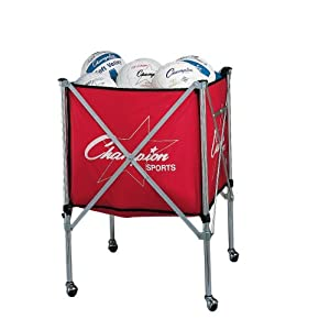 Champion Sports Folding Volleyball Storage Cart
