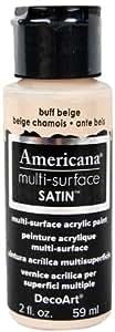 DecoArt Americana Multi-Surface Satin Acrylics Paint, 2-Ounce, Buff Beige