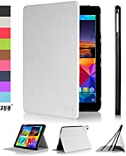 Samsung Galaxy Tab 4 10.1 inch CaseCover, FYY® Ultra Slim Magnetic Smart Cover Case for Samsung Galaxy Tab 4 10.1 inch White (With Auto Wake/Sleep Feature)