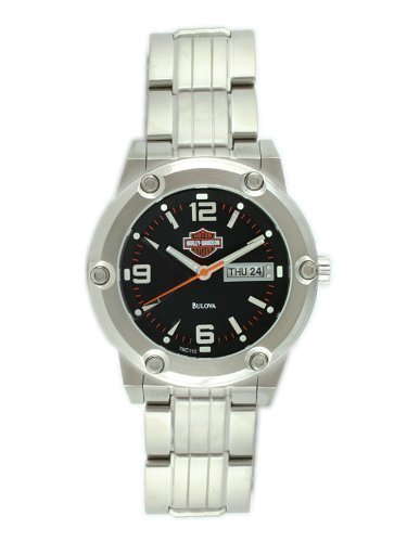 Harley-Davidson® Men's Bulova® Watch. Matte Black Dial. 76C110