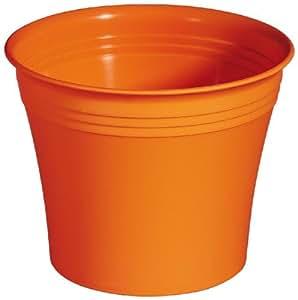 Bertopf michele 25 cm rund aus kunststoff farbe orange for Kunststoff pool rund