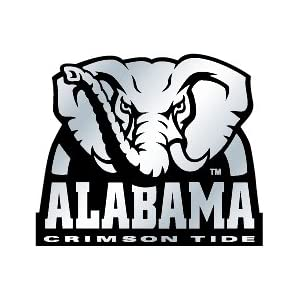 Alabama Silver Car Emblem
