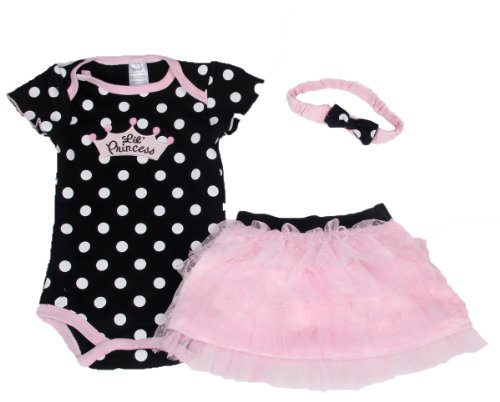 Baby butterfly headdress & Baby Girl's Dress Suits Romper Type H6323T6, Black, 6 Months