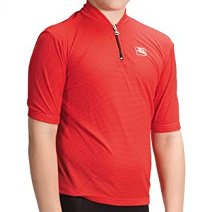 Giordana 2011 Youth Strada Junior Cycling Jersey - Red - (GI-SSYJ-SOLI-REDD)