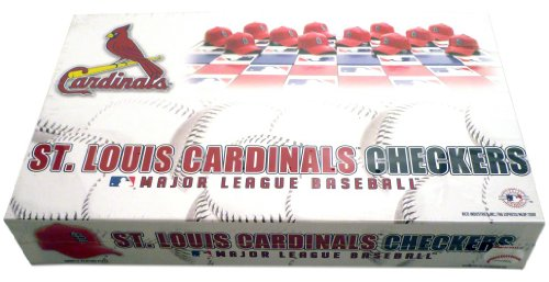 MLB St. Louis Cardinals Miniature Helmets Checker Set