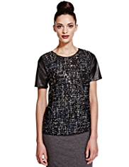 Limited Edition Sequin Embellished Top with Wool