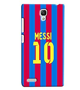Clarks Messi 10 Hard Plastic Printed Back Cover/Case For Xiaomi Redmi Note Prime