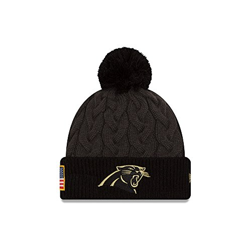 2016 Women's New Era Salute to Service Knit Hat (One Size, Carolina Panthers) (Salute To Service Panthers compare prices)