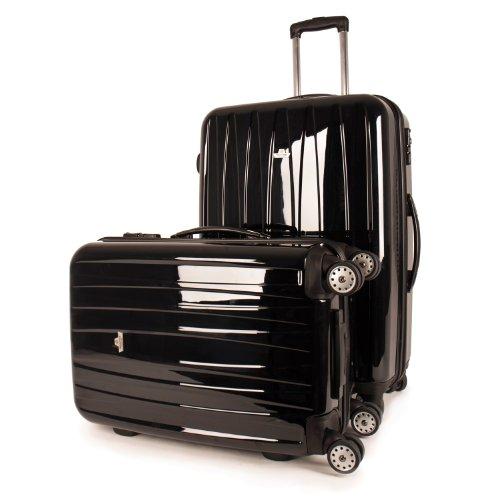 MasterGear Master Gear Travelline Polycarbonat Hartschalenkoffer, sehr leicht, 2erSet schwarz