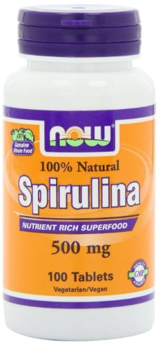 Now Foods Spirulina 500Mg, Tablets, 100-Count