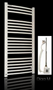 Badheizkörper elektro / elektrisch 1074h x 600b weiss gebogen 674 Watt  BaumarktKundenbewertung und weitere Informationen