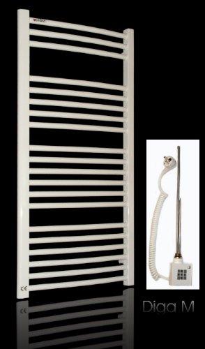 elektro badheizk rper 1734h x 600b weiss gebogen 1129. Black Bedroom Furniture Sets. Home Design Ideas