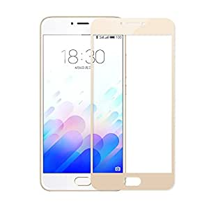 Plus Pro HD+ Crystal Clear Full Screen Coverage Tempered Glass Screen Protector For Meizu m3 note - Gold