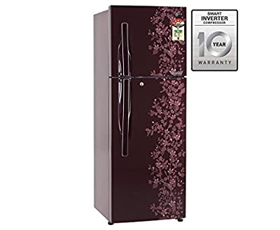 LG GL-M322RSPL Frost-free Double-door Refrigerator (310 Ltrs, 4 Star Rating, Scarlet Paradise)