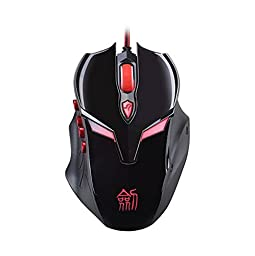 BLACK E-sports Game Self-defined Mouse Professional Luminous Wired Mouse Electronics Computer Networking