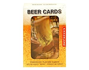 Kikkerland Lenticular Beer Playing Cards