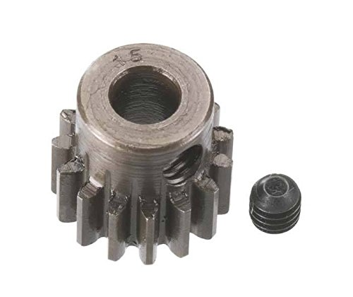 Robinson Racing Products 8715 Hard Bore 0.8 Module Pinion Gear, 15T, 5mm