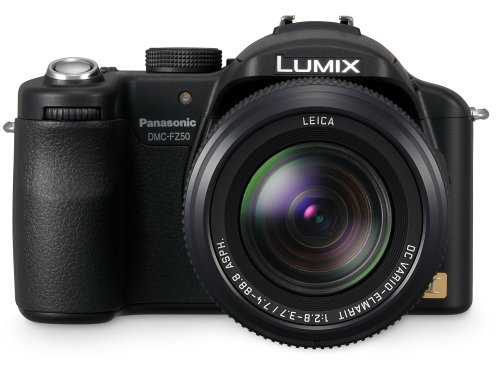 Panasonic DMC-FZ50EB-K Digital Camera - Black (10.1MP, 12x Optical Zoom) 2.0