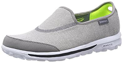 Skechers Performance Women's Go Walk Impress Memory Foam Slip-On Walking Shoe, Gray, 5 Xw US