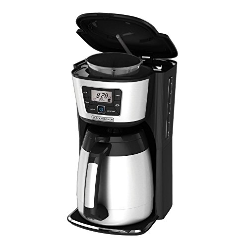 Black And Silver Kitchen Appliances: BLACK+DECKER CM2035B 12-Cup Thermal Coffeemaker, Black