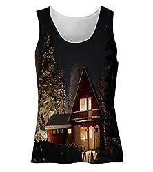 Snoogg Road Way At Night Womens Tunic Casual Beach Fitness Vests Tank Tops Sleeveless T shirts