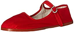 Womens Cotton Mary Jane Shoes Ballerina Ballet Flats Shoes (9, Red 114)