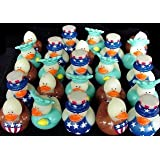 2 Dozen (24) 4th of July Patriotic RUBBER DUCK Ducky Party Favors [Toy]